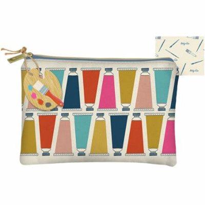 ART LOVER CANVAS ZIPPER BAG BY MODA - MULTIPLE OF 4