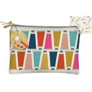 ART LOVER CANVAS ZIPPER BAG BY MODA - MULTIPLE OF 4