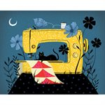 "ART PRINTS SEWING NIGHT 5"" X 7"" BY CRAFTEDMOON FOR MODA - MINIMUM OF 3"