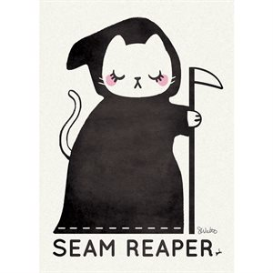 "ART PRINTS SEAM REAPER 5"" X 7"" BY CRAFTEDMOON FOR MODA - MINIMUM OF 3"