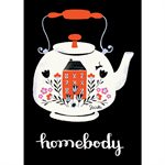 "ART PRINTS HOMEBODY TEAPOT 5"" X 7"" BY CRAFTEDMOON FOR MODA - MINIMUM OF 3"