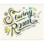 "ART PRINTS SEWING ROOM 5"" X 7"" BY CRAFTEDMOON FOR MODA - MINIMUM OF 3"