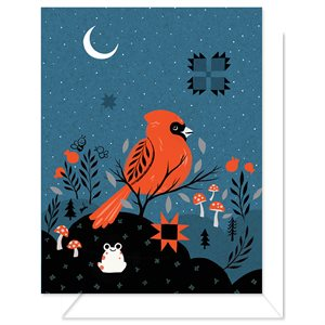 "BLANK CARD - CARDINAL 4.25"" X 5.5"" BY CRAFTEDMOON FOR MODA - MIN.6"