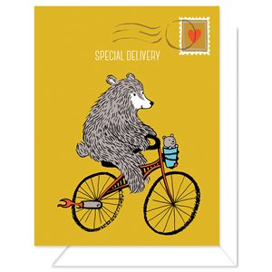 """BABY SHOWER CARD - SPECIAL DELIVERY 4.25"""" X 5.5"""" BY CRAFTEDMOON FOR MODA - MIN.6"""