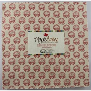 RED DELICIOUS ASSORTMENT MAPLE CAKES - 40 PCS. /  PACKS OF 4