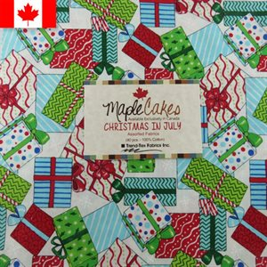 CHRISTMAS IN JULY ASSORTMENT MAPLE CAKES - 40 PCS. /  PACKS OF 4