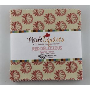 RED DELICIOUS MAPLE SQUARES - 40 PCS. / PACKS OF 12