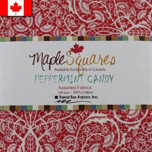 PEPPERMINT CANDY ASSORTMENT MAPLE SQUARES - 40 PCS. / PACKS OF 12