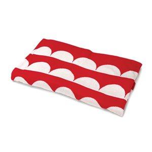 BONNIE & CAMILLE RED SCALLOP THROW BY MODA - MIN. 1