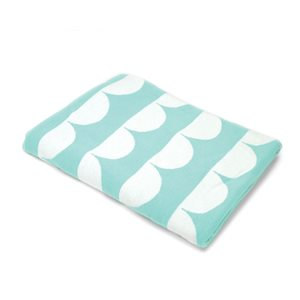 BONNIE & CAMILLE AQUA SCALLOP THROW BY MODA - MIN. 1